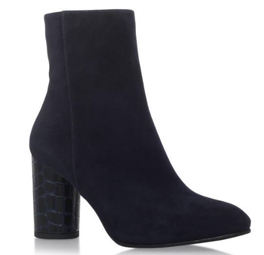 Smile Navy block heel boots, Kurt Geiger £169.00