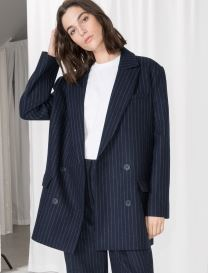 Pinstripe blazer, &other stories £125.00