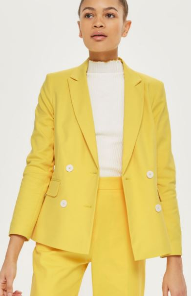 Double breasted yellow blazer, Topshop £60.00