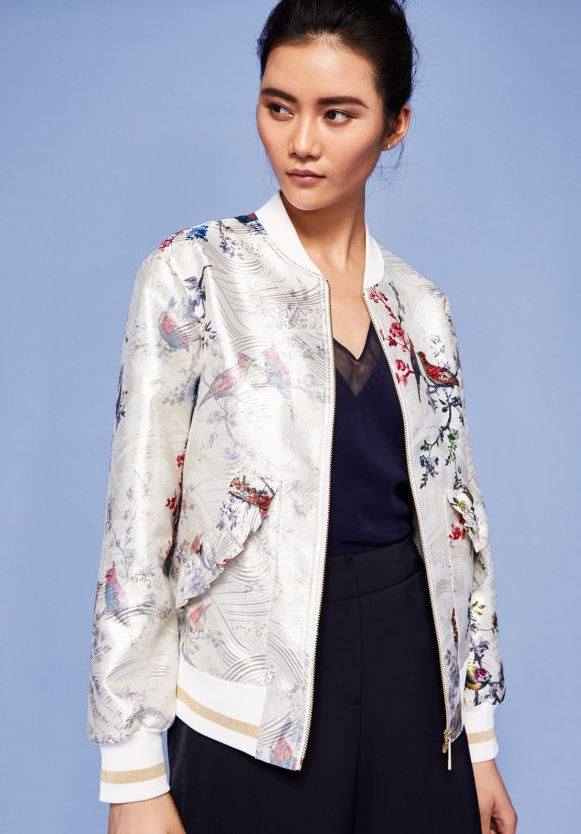 Opulent Fauna bomber, Ted Baker £195.00 (currently £146.25)
