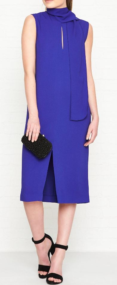 High neck blue sleeveless dress, £138.00 Joesph, Very Exclusive