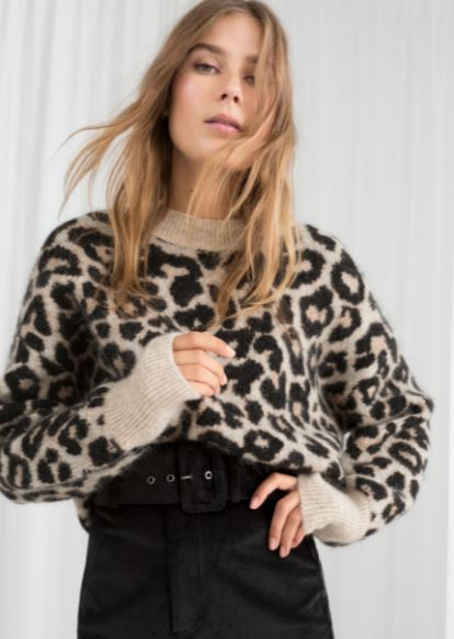Oversized leopard print knit, &other stories, £69.00