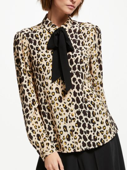 Leopard print tie neck blouse, Somerset by Alice Temperley, £79.00