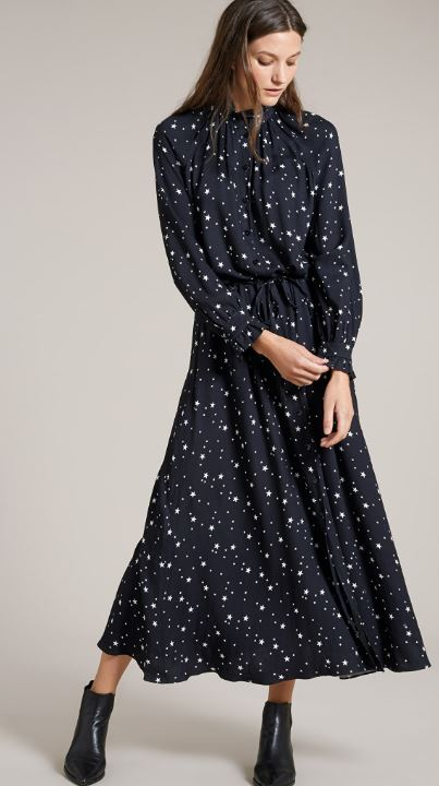 Luna star print maxi dress, Baukjen, £189.00