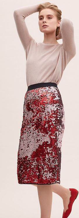 2315346032 Warehouse, Ombre sequin pencil skirt, £65.00