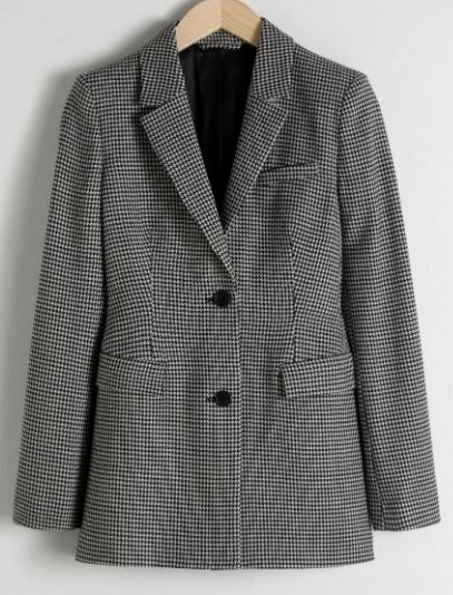 Hourglass Houndstooth blazer, &other stories, £129