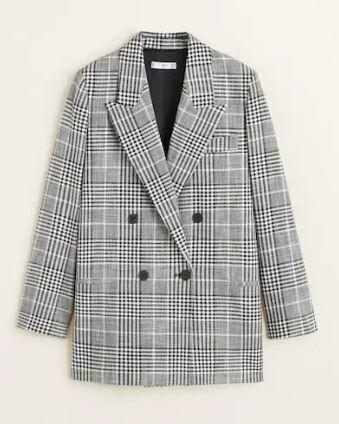 Check suit blazer, Mango, £69.99