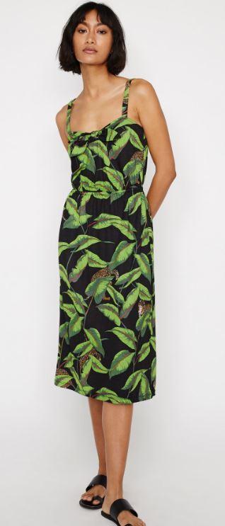 Banana leaf midi dress, Warehouse £42