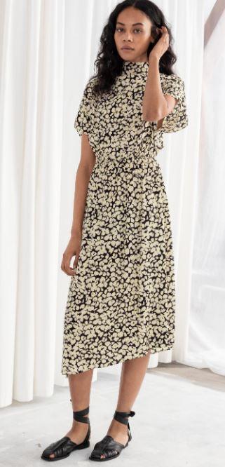 Floral Asymmetric Midi dress, &other stories, £79