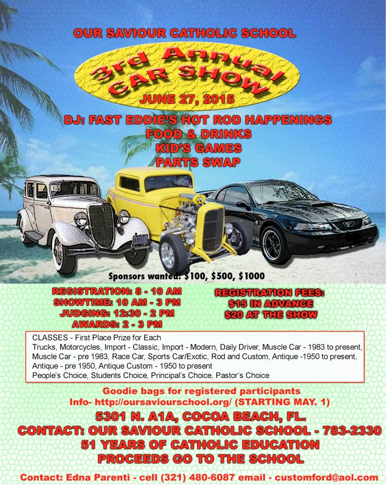 OSCS Rd Annual Car Show Our Saviour Catholic School - Cocoa car show