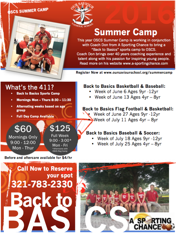 OSCS Summer Camp Registration Now Open!