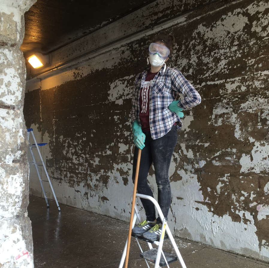 May 17, 2015 Mural Cleaning