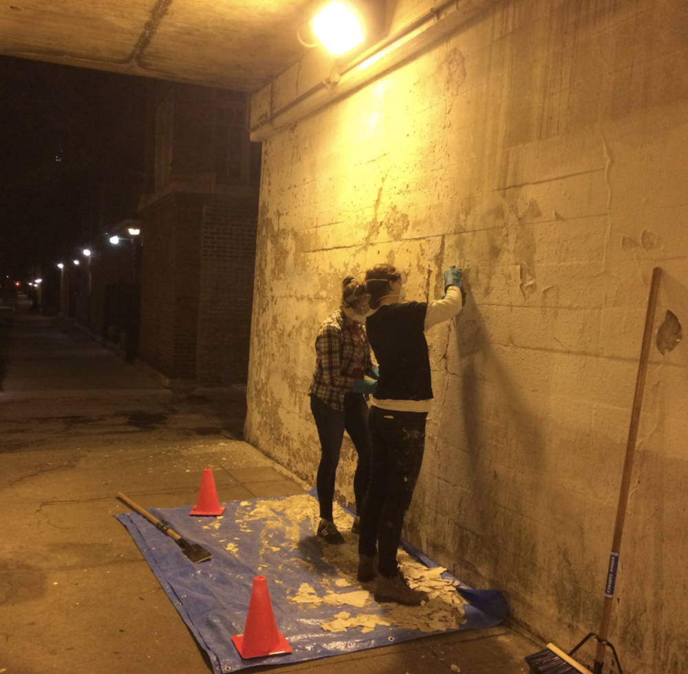 May 12, 2015 Mural Cleaning