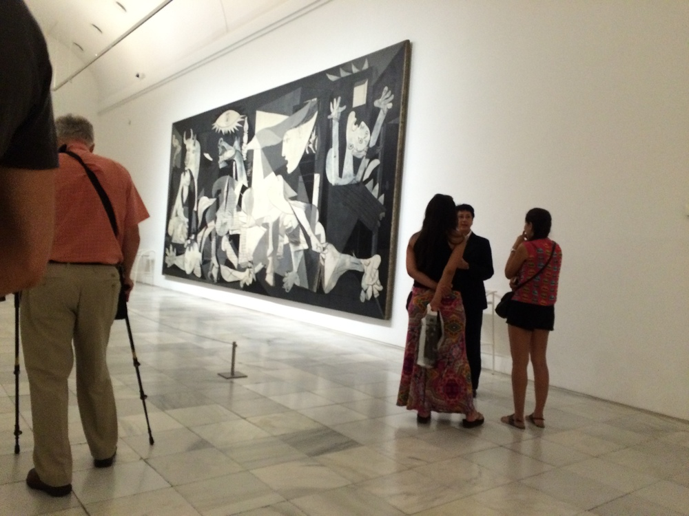 Definitely not an iPhone snap of Guernica... that's not allowed, ya dingus.