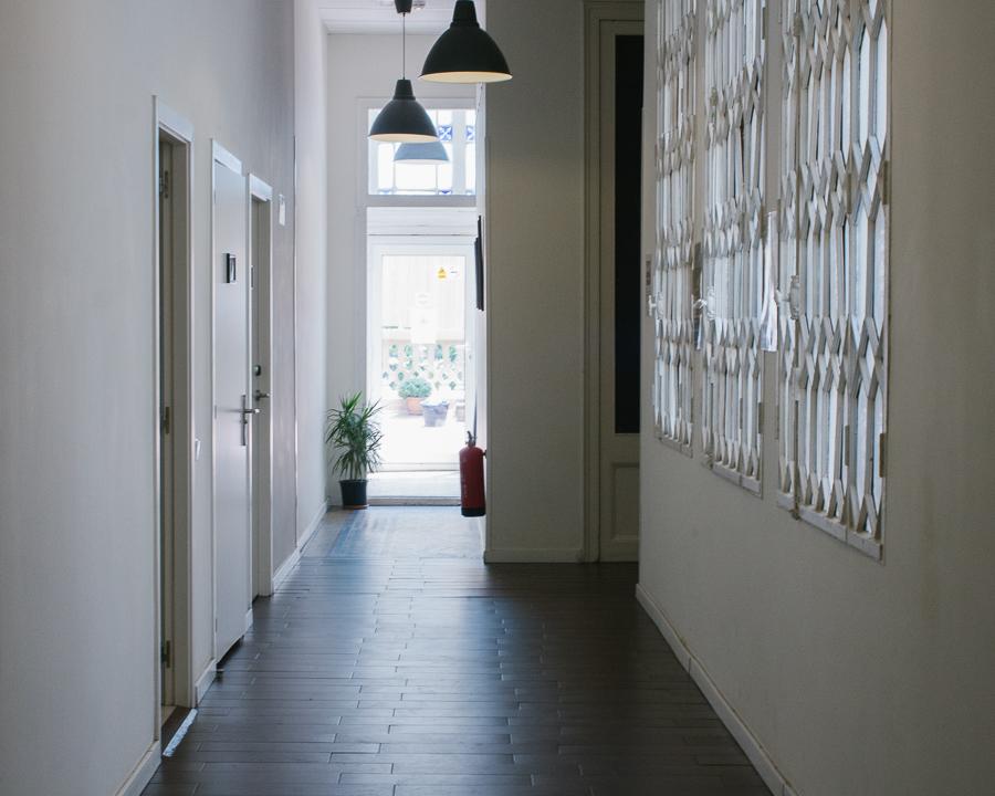 Hostel hallway