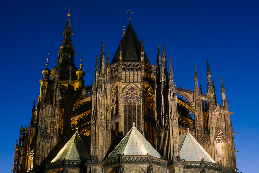 St. Vitus Cathedral on the castle grounds