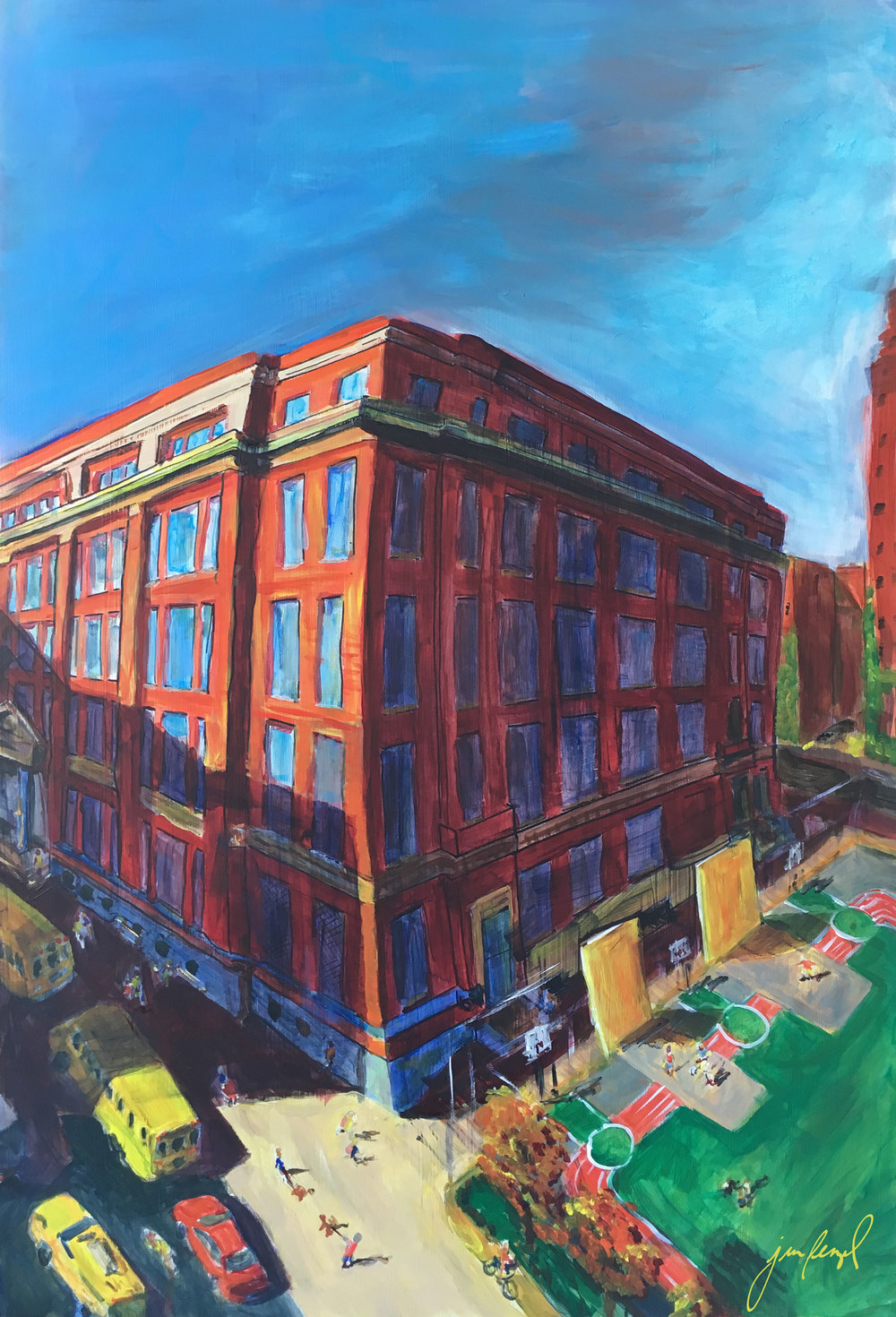 Ella Baker School, NYC (More info about the auction for this piece coming soon)