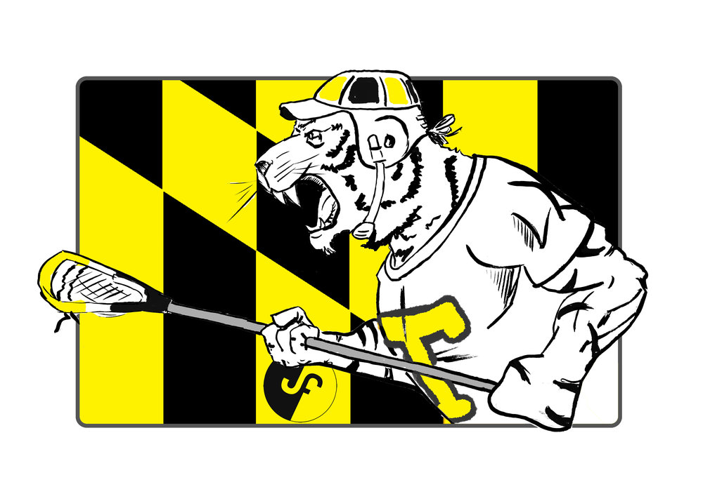 The new 2018 Towson LAXCOT (lacrosse + mascot) can also be one of your prints!