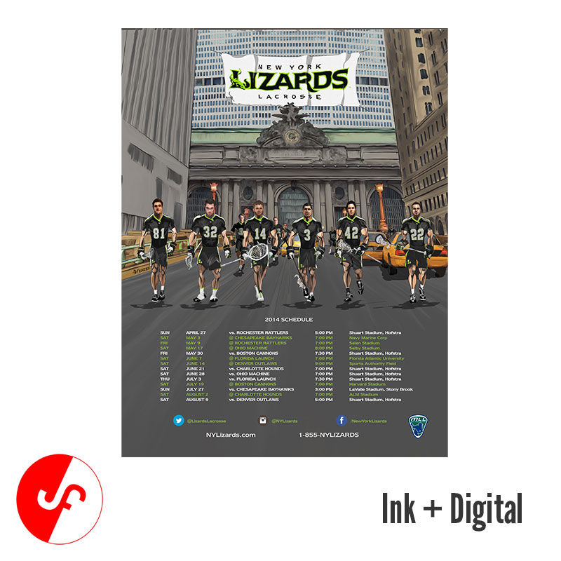 NY Lizards Schedule Poster