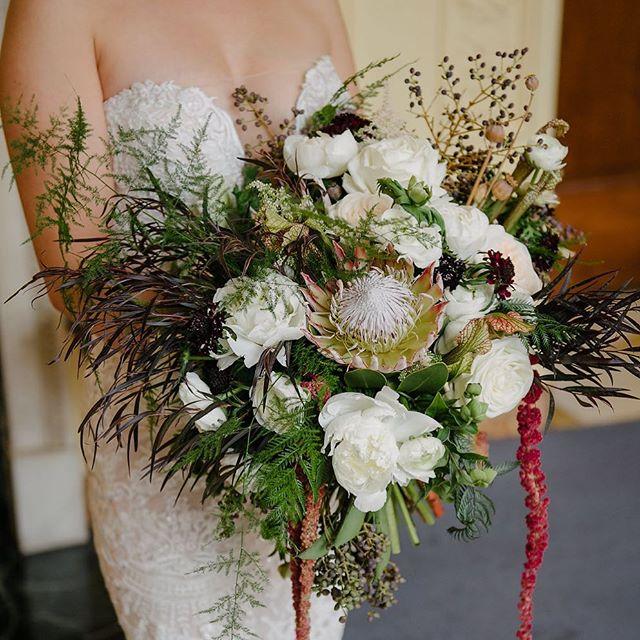 Happy #internationalwomensday ! We ❤️ our #goddess brides ! 💥 . . . Photo of gorgeous bride Syd by 📷 @brianhattonphoto . .  #newyorkflorist #bridalbouquet #bouquet  #winterwedding #protea #peonies #ranunculus #amaranthus #fineartflowers #fineartflorist #gatherandcurate #luxuryflorist #naturalflowers #womenrule #inspiredbythis #romanticwedding #weddingdesign #floraldesign #fortheloveofflowers #underthefloralspell #dsfloral #flashesofdelight