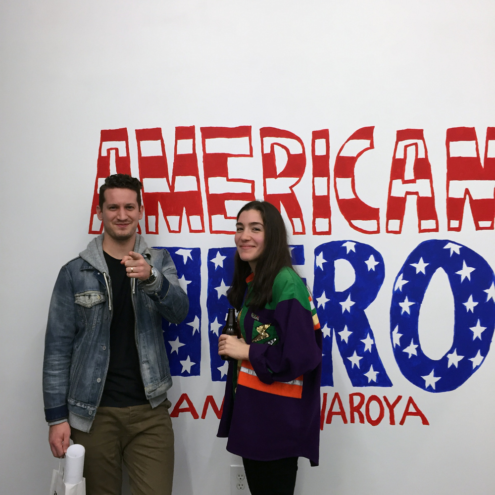 True American Hero's - Artist & Illustrator Ana Benaroya and Artist & Illustrator Will Bryant.