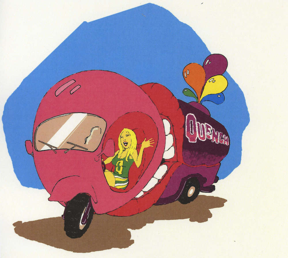 NOTE: This is only an artist rendition of what we thought the Quenchmobile would look like.