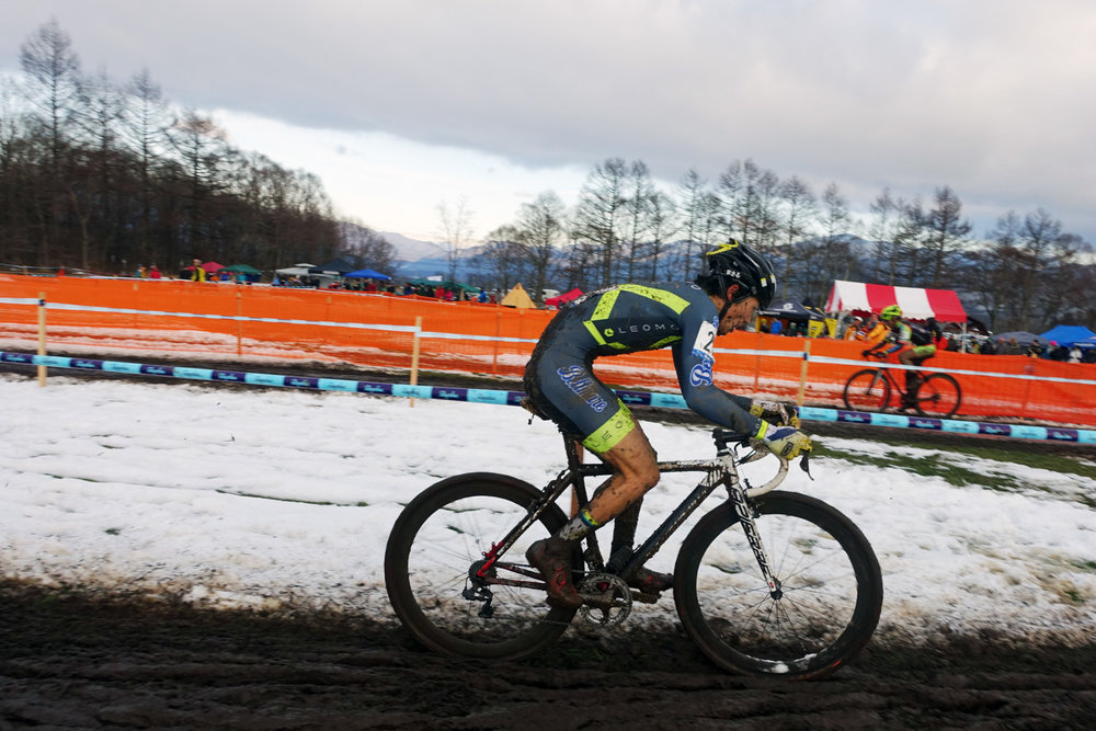 Masaru Nakazato on the hunt! He was so frozen at the end of the race.