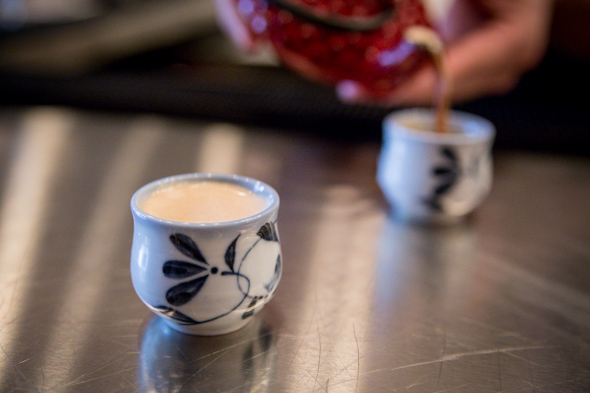 Teapot Shots   short 'n' stout: cafe patron xo, short espresso, mill street cobblestone stout  Photo Credit: Jesse Milns