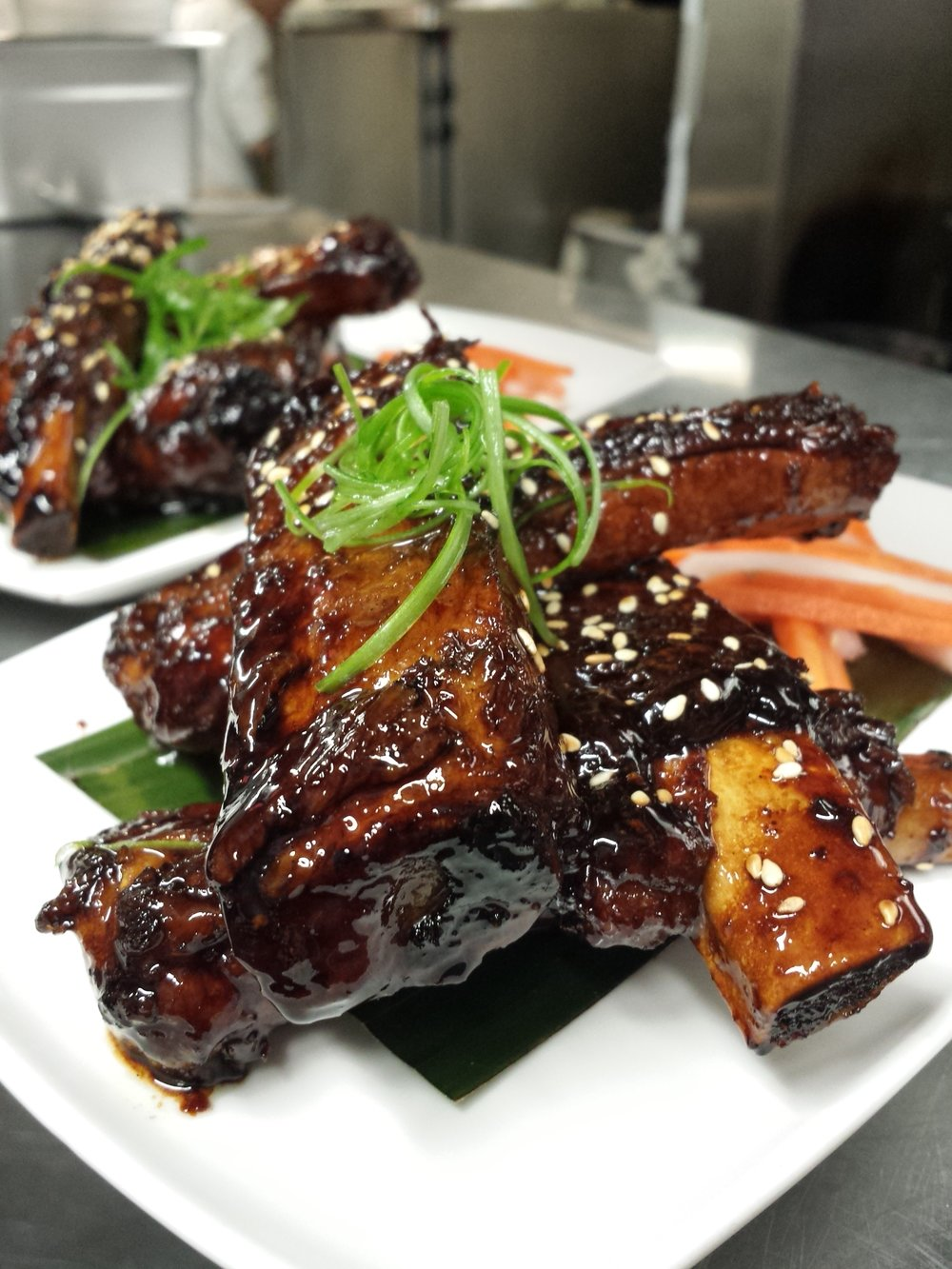Sticky Soy Glazed Pork Ribs