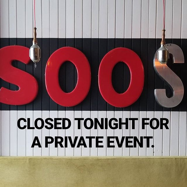 CLOSED tonight, Wed May 16, for a private event. See you tomorrow!