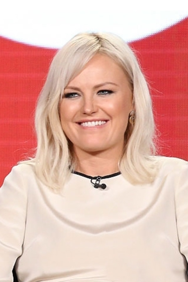 Malin Akerman wears the Crescent earrings to promote Billions