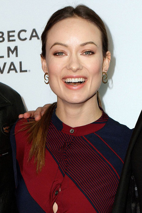 Olivia Wilde in Double Crescent Diamond Earrings