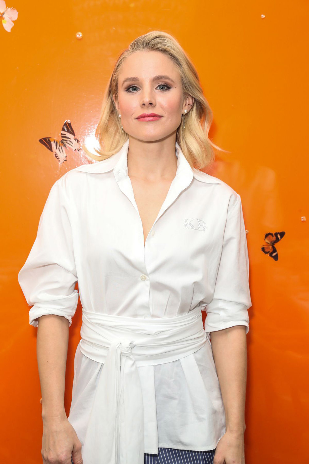Kristen Bell at the TOME dinner in Los Angeles wearing the Pearl Shirley Drops