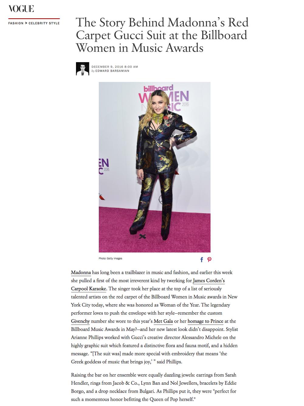 Vogue, December 2016