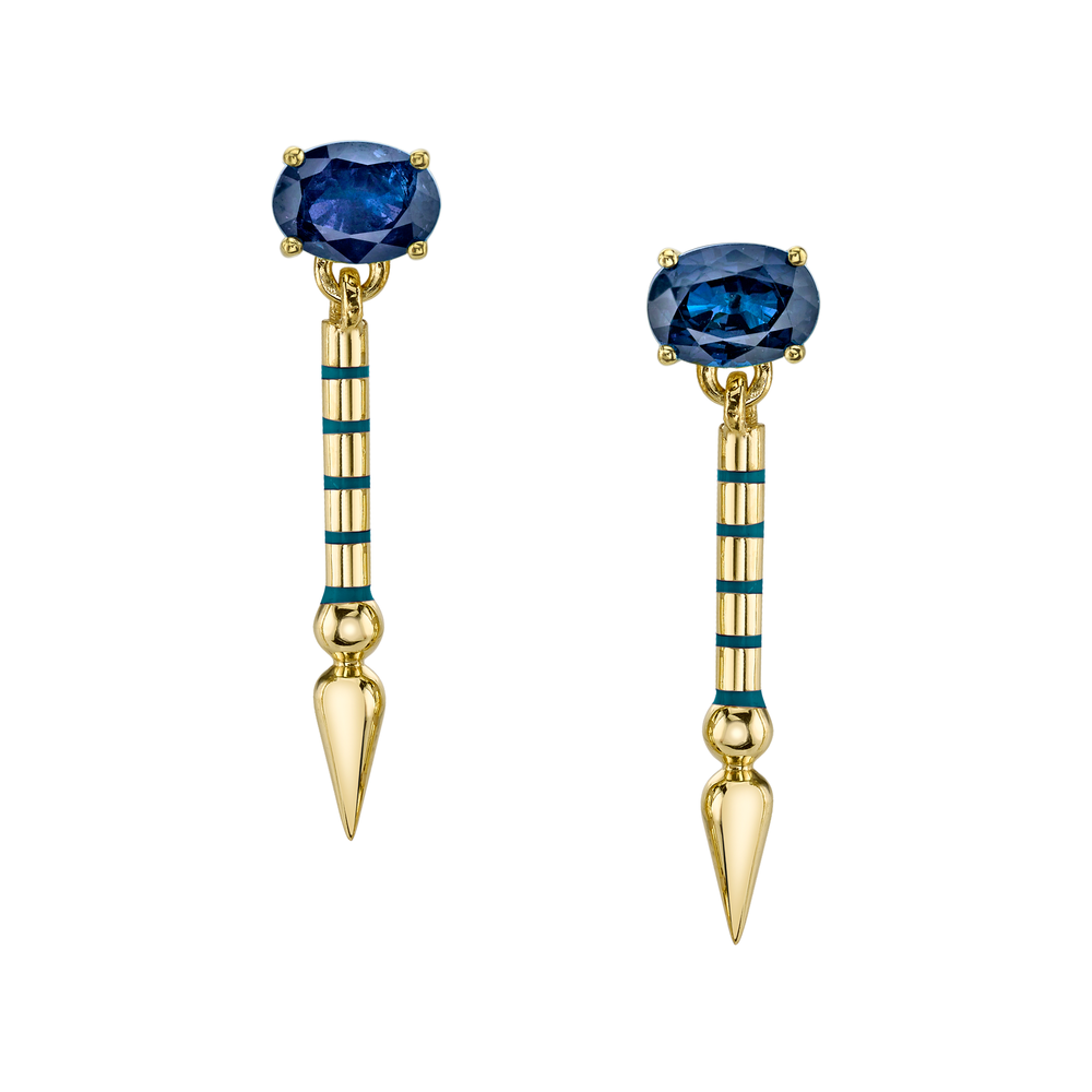 One-of-a-Kind Blue Sapphire Shirley Drops