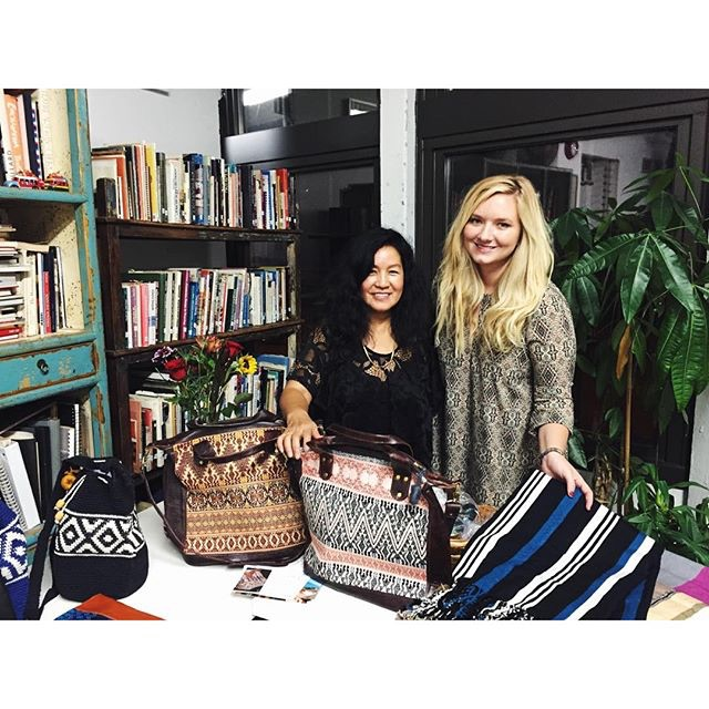 Estrella de Mar Co-Founder Emily Pinto with Weaving Hand Founder & Director Cynthia Alberto