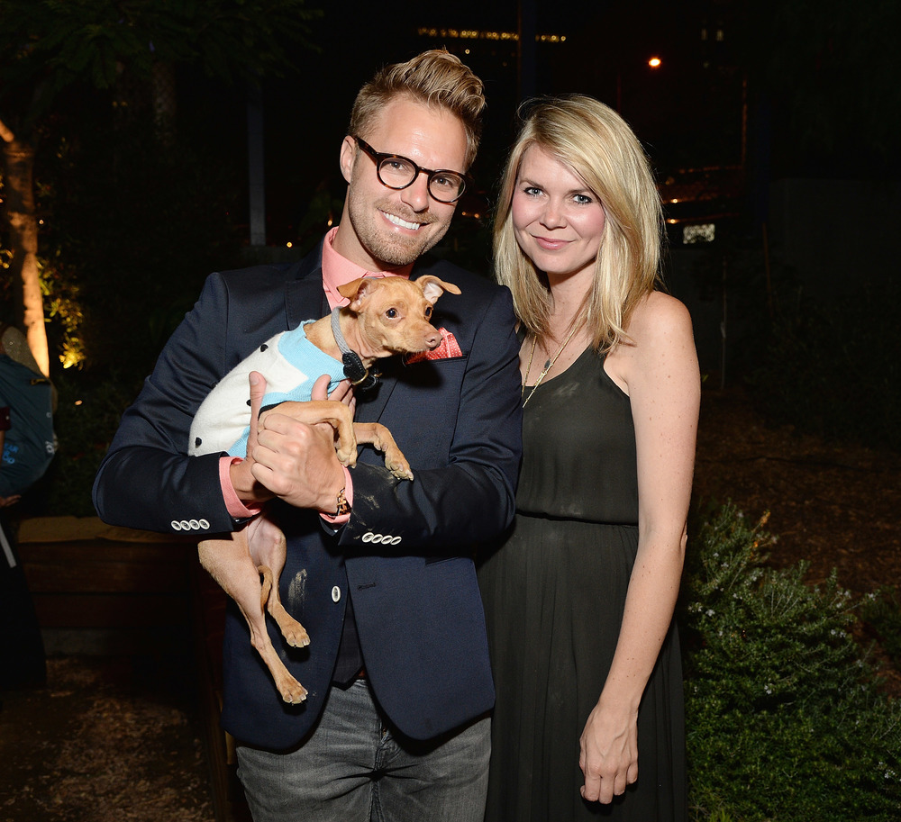 Seth Casteel, Courtney Dasher, and dog, Tuna