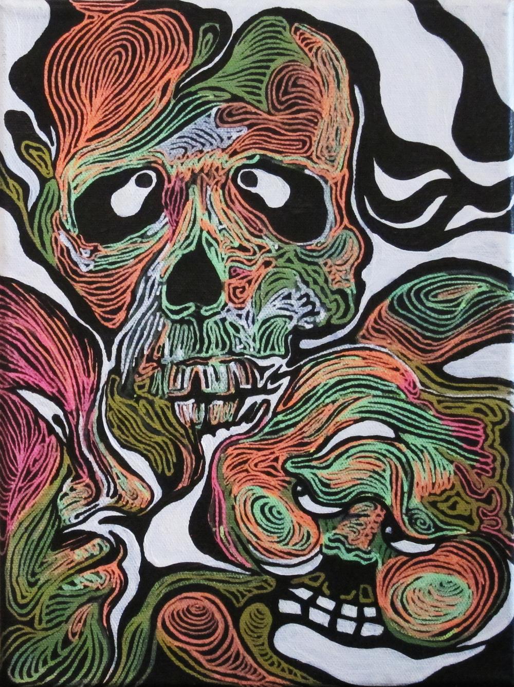 9 inch x 15 inch  Acrylic on Canvas  2014
