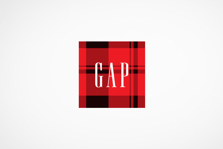 Gap logo, holiday iteration, a collaborative project done at  CP+B