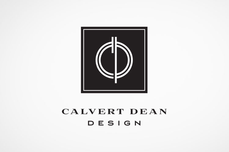 Logo for Calvert Dean Design, a Savannah-based interior design company