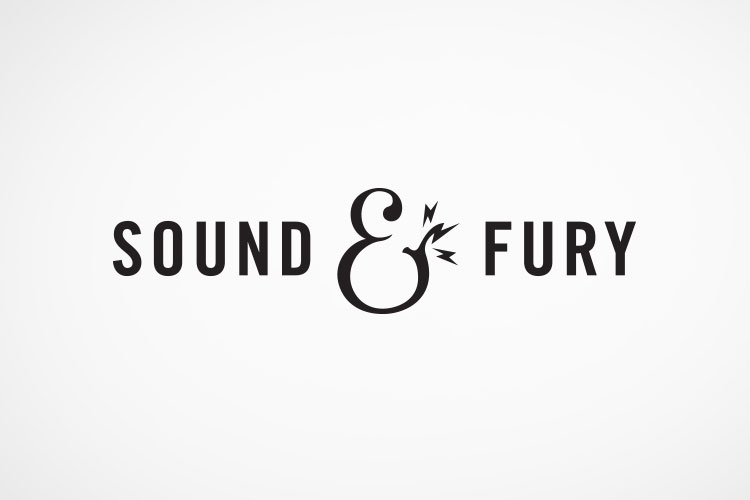 Brand identity for Sound & Fury, an LA-based sound production company