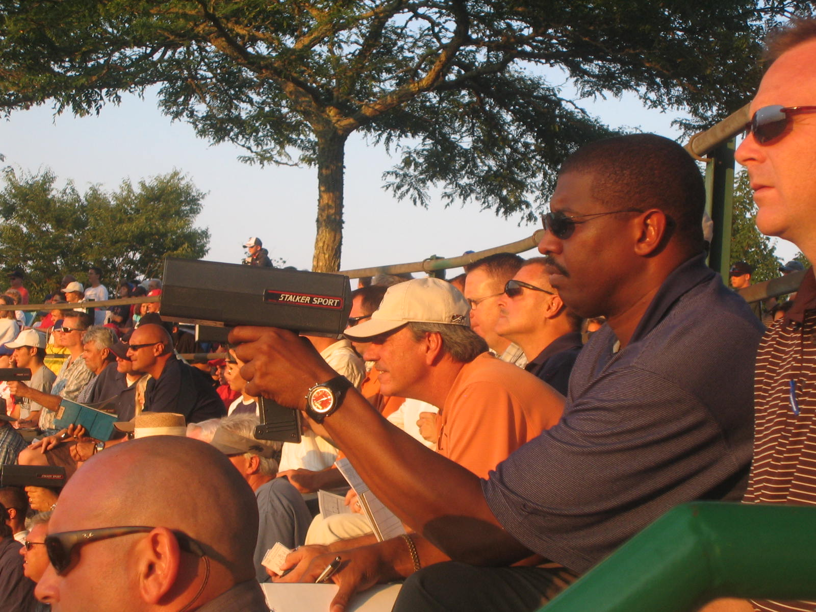 The scouts were out in force last night --using their guns in search of young guns.