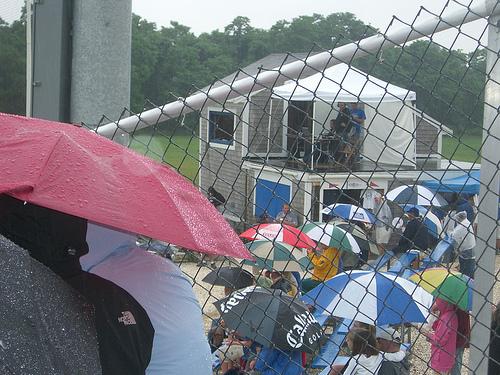 Rain at McKeon Park