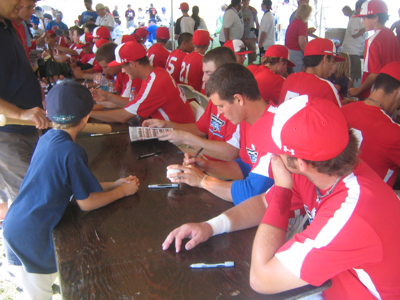 Cape League all-stars signed autographs last week. Now they are preparing for the final week before playoffs.
