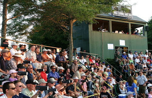 Scouts and fans jam-packed in the bleachers behind home plate at the 2008 All-Star Game. Photo courtesy of Capehomepage.com
