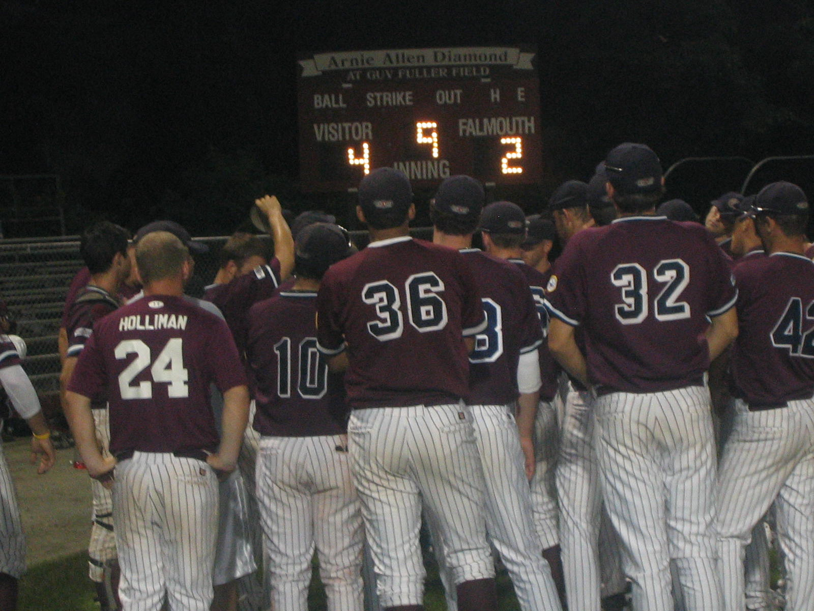 Cotuit defeated Falmouth last night to move within a single point of first place. Hyannis also looms one point behind first.