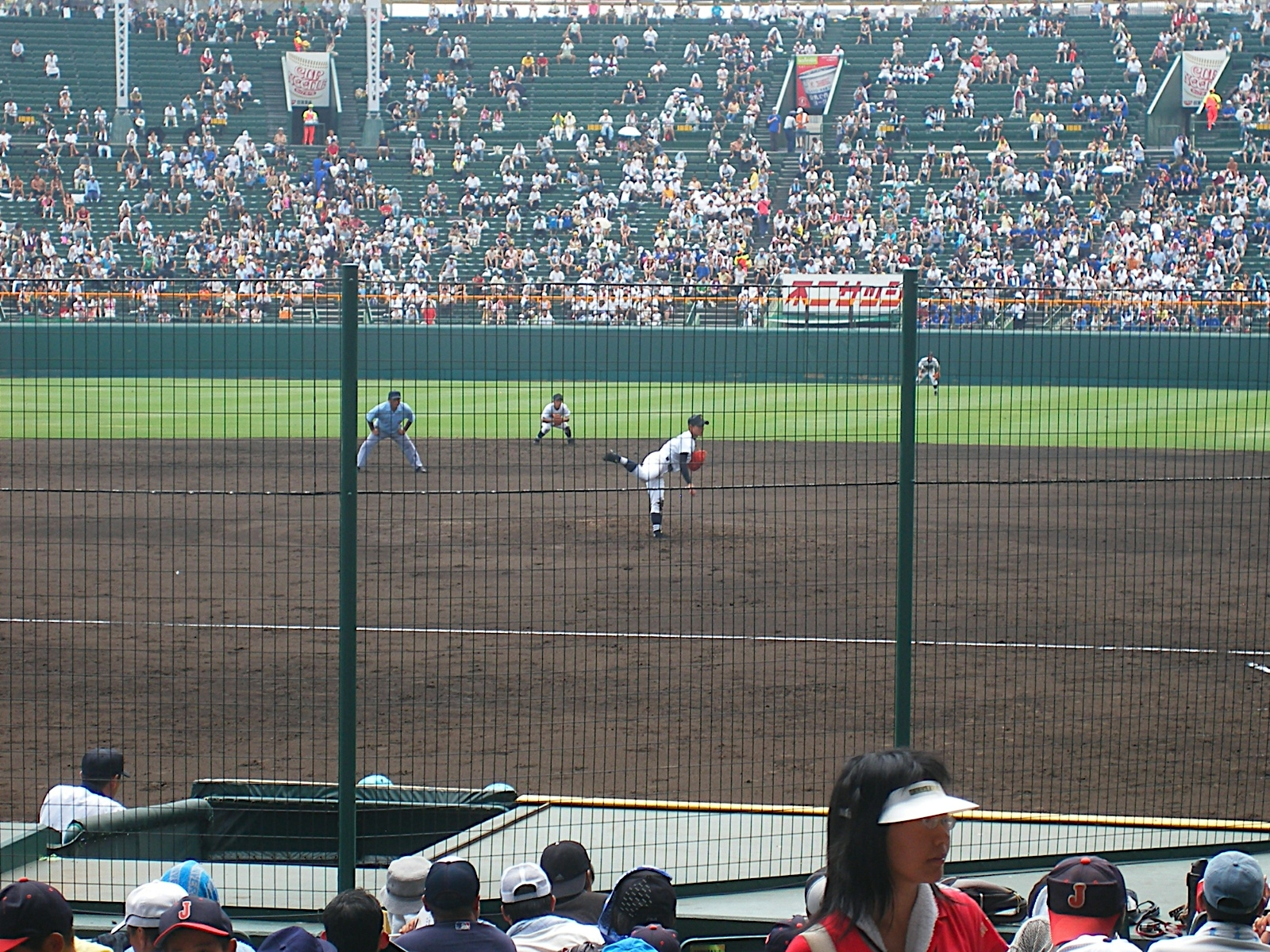 A scene from Japan's high school tournament, Koushien.