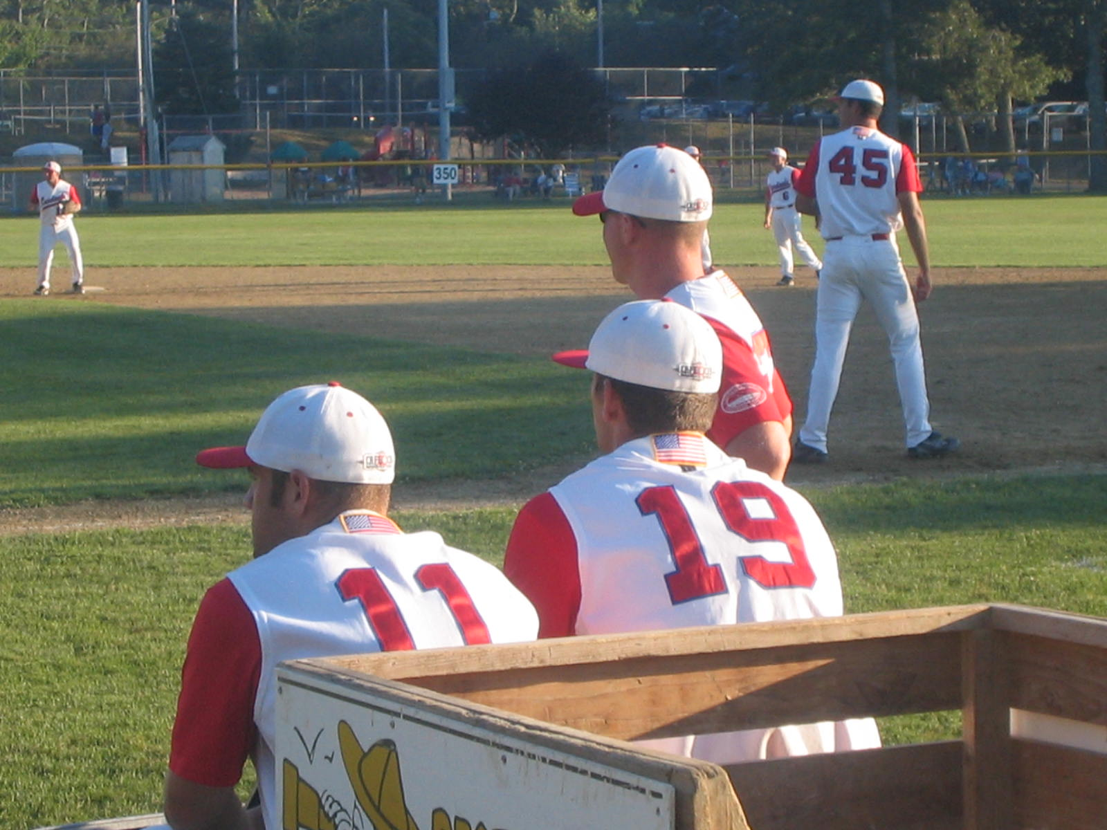Orleans players preparing to take the field in Game One of the eastern playoffs.