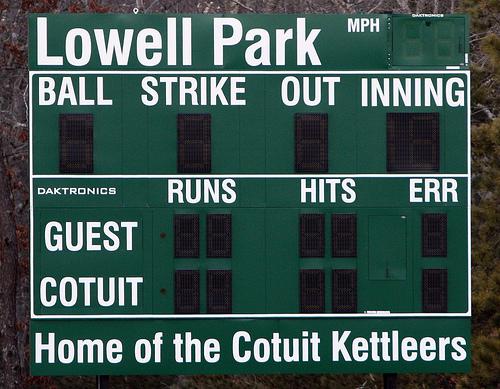 Cotuit Kettleers Scoreboard