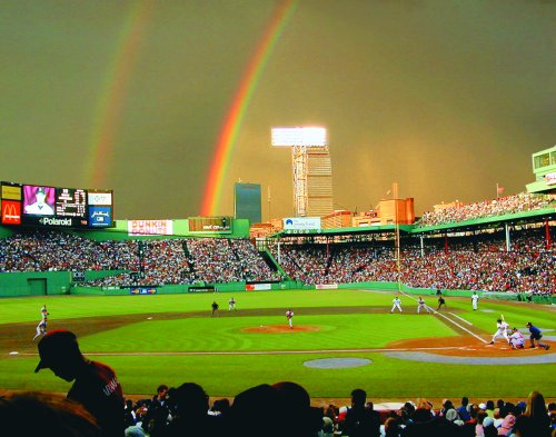 Cape Cod Baseball League All-Stars where play somewhere over the rainbow -- Fenway Park